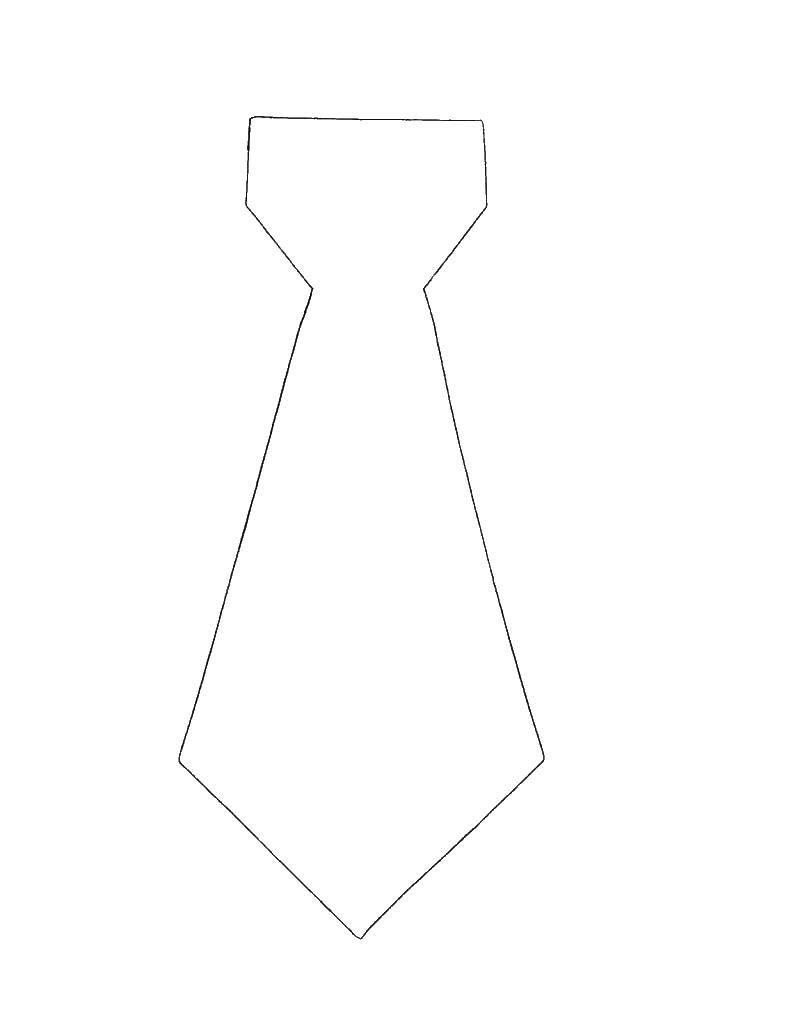 Раскраска Галстук Скачать ,одежда, галстуки,.  Распечатать