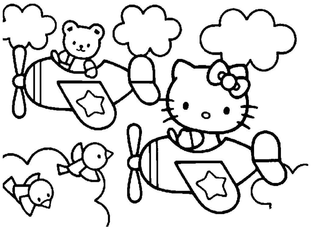 Раскраска Hello Kitty Скачать руки, ладони, для вырезания.  Распечатать ,Контур руки и ладошки для вырезания,