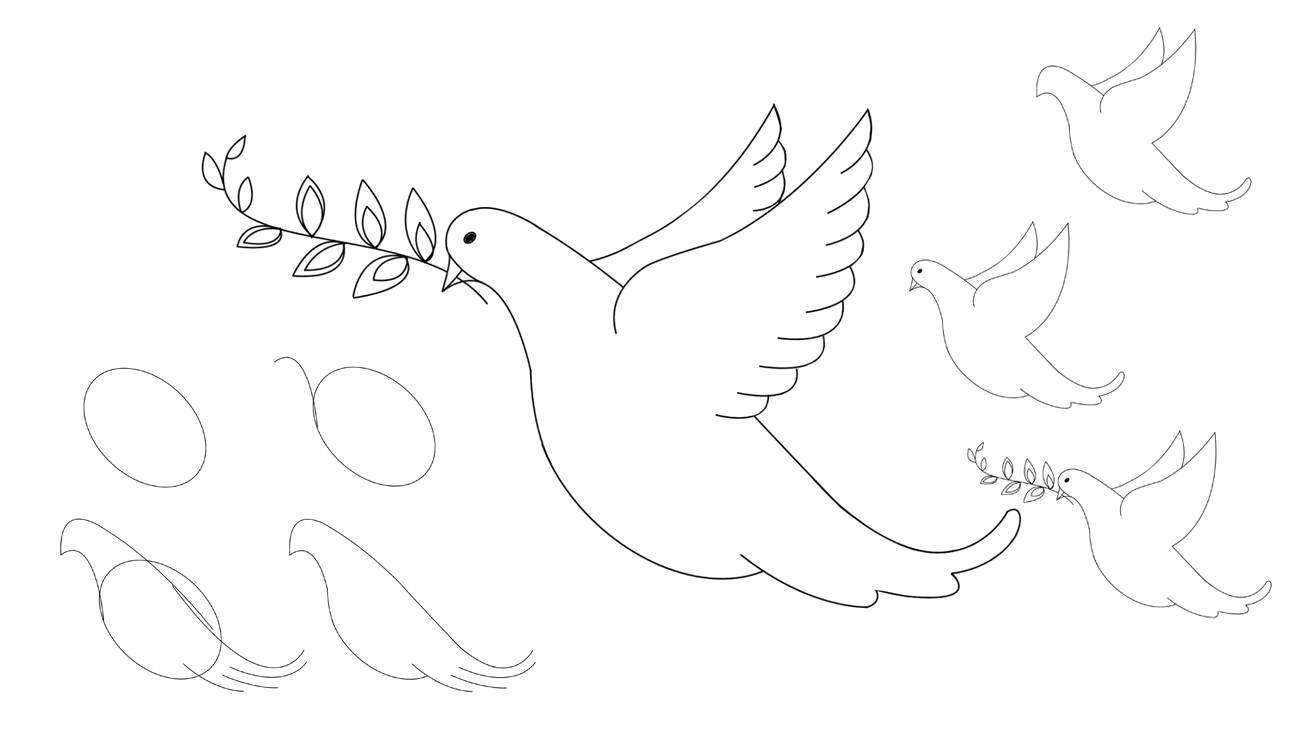 Раскраска Как нарисовать птичку Скачать как нарисовать, животные, птички.  Распечатать ,как нарисовать поэтапно карандашом,