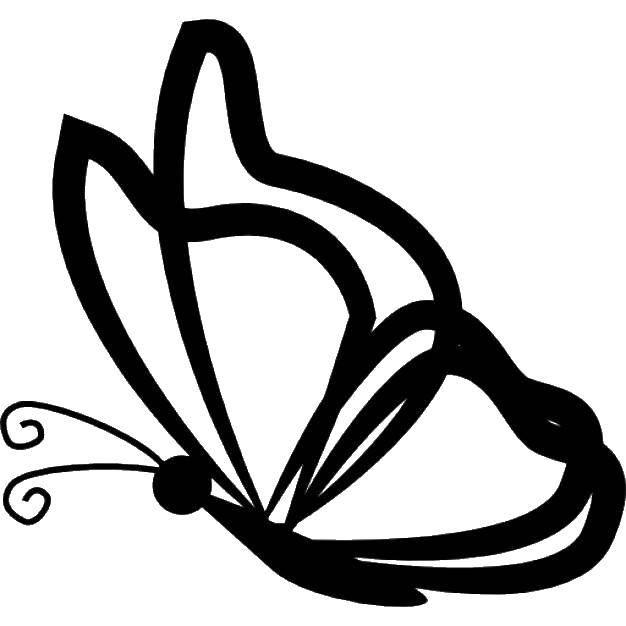 Раскраска контуры для вырезания бабочек Скачать ,Природа, лес, поляна, цветы,.  Распечатать