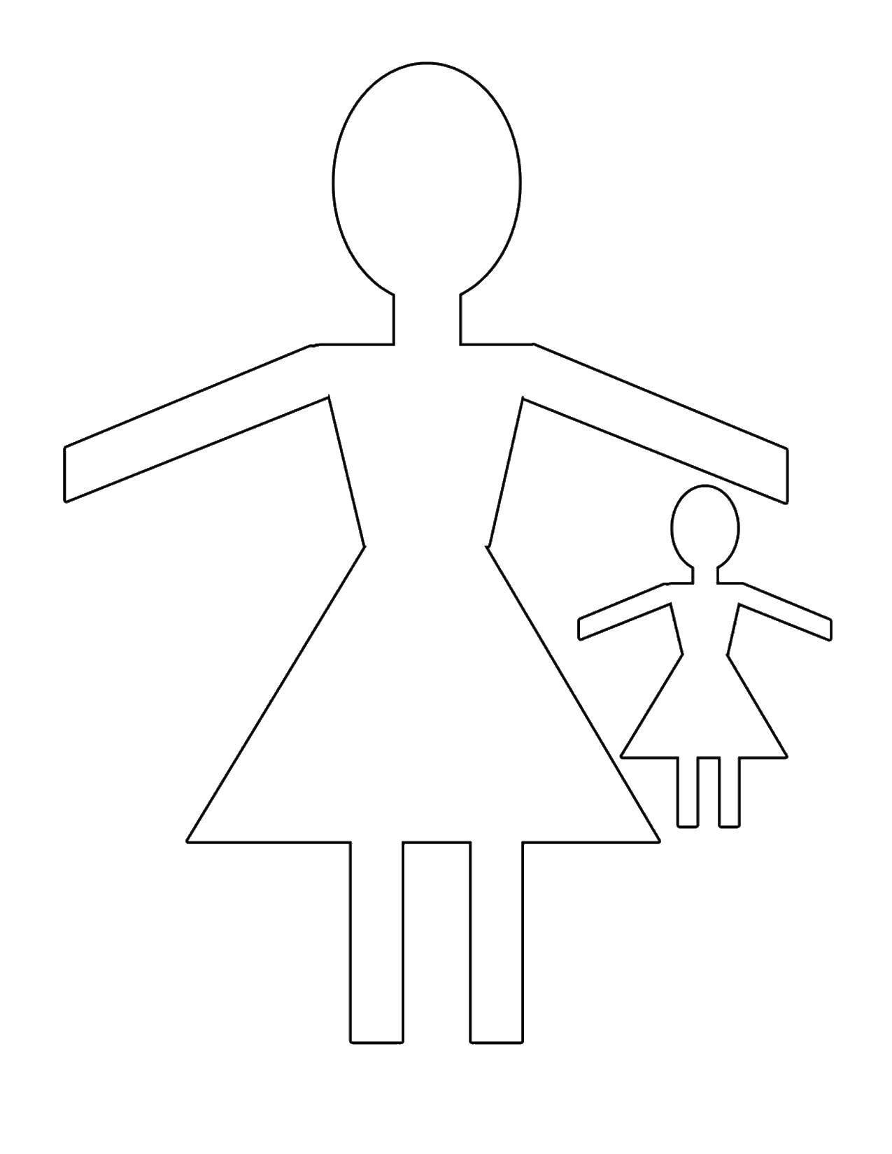 Раскраска Контур куклы Скачать ,гринч,.  Распечатать
