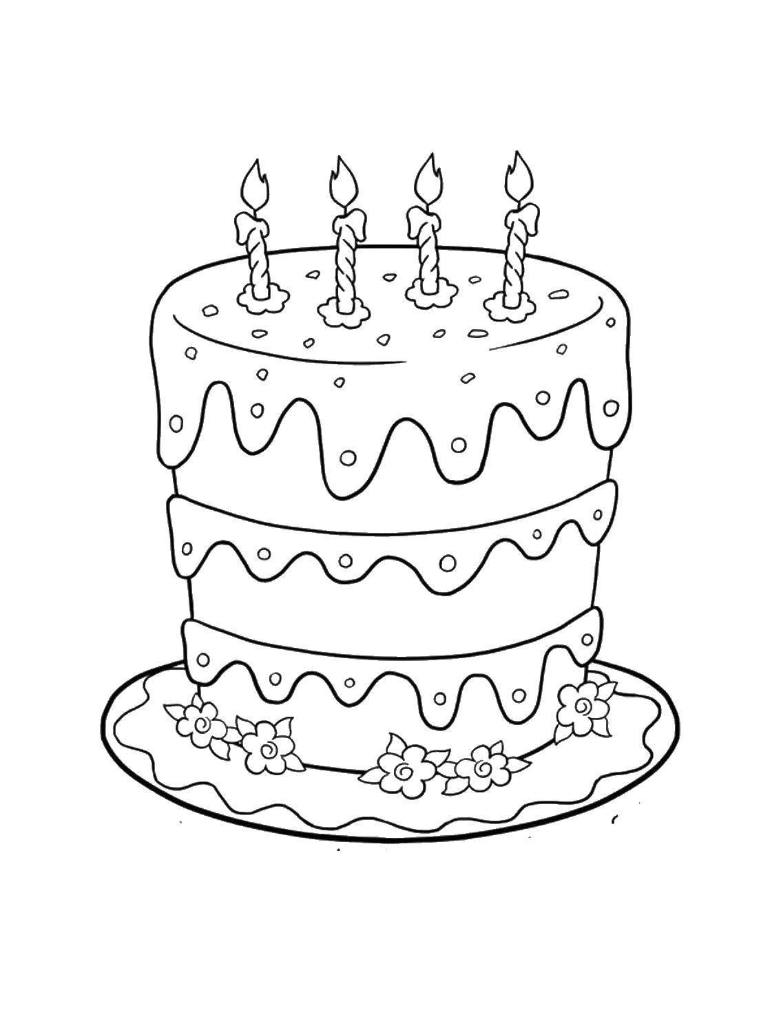 Раскраска торты Скачать Персонаж из мультфильма, Бен Тен.  Распечатать ,Персонаж из мультфильма,