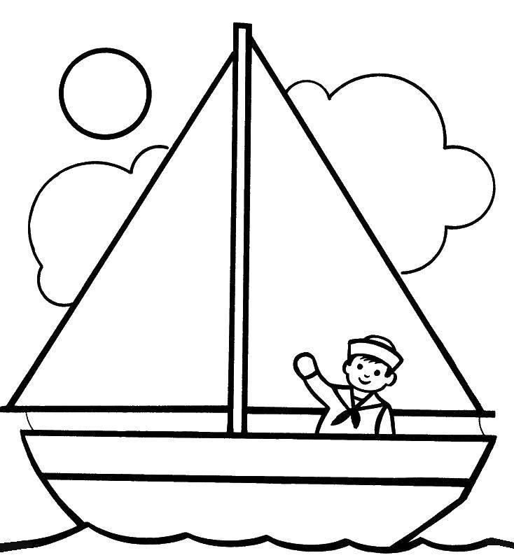 раскраски моряк раскраска маленький моряк корабль