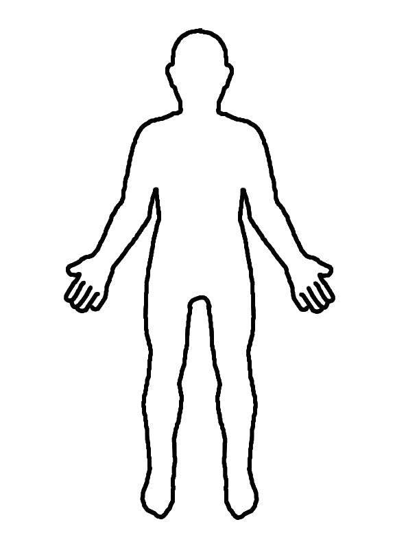 Раскраска Контур человека Скачать контур, человек, руки, ноги.  Распечатать ,контур мальчика,