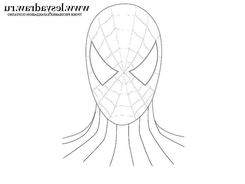 Раскраска Маска спайдер мена Скачать маска, человек паук.  Распечатать ,человек паук,