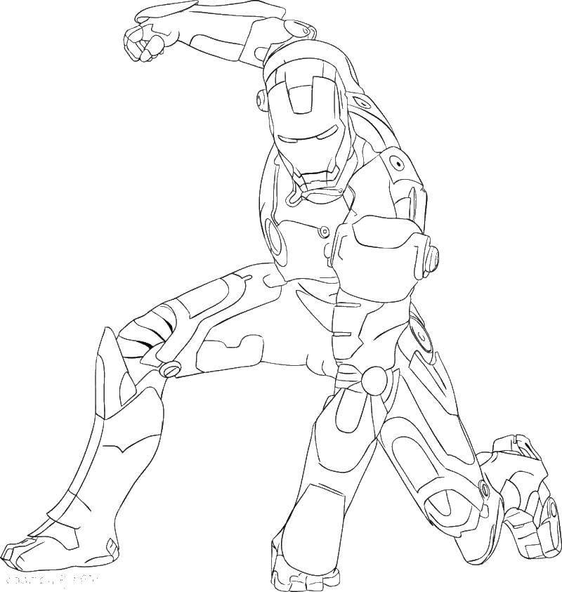 Раскраска Мститель железный человек Скачать мститель, железный человек, костюм.  Распечатать ,мстители,