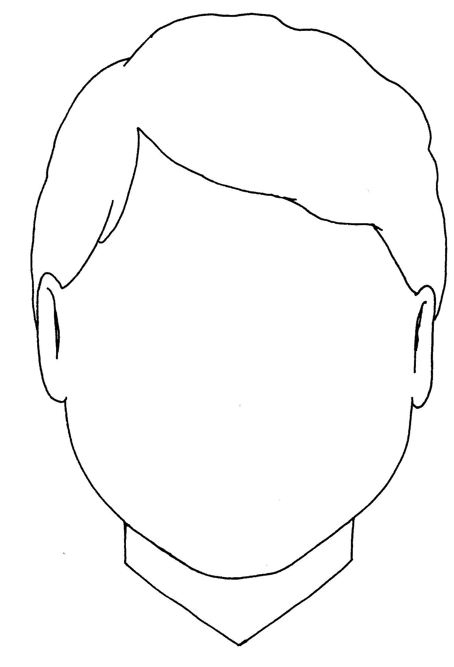 Раскраска Нарисуй лицо. Скачать лицо, лица, мальчи.  Распечатать ,лицо,