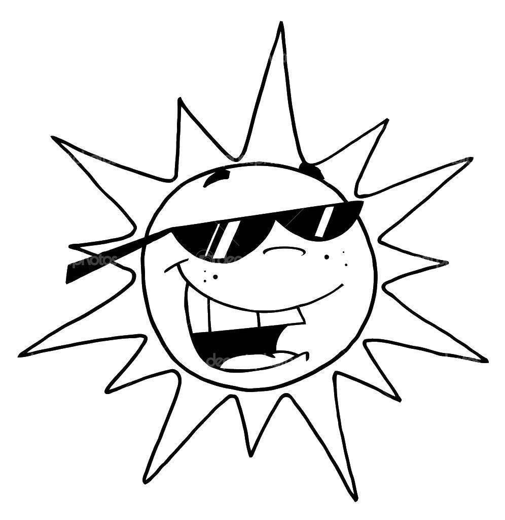 Раскраска Контур солнца Скачать Пират, остров, сокровища.  Распечатать ,остров сокровищ,