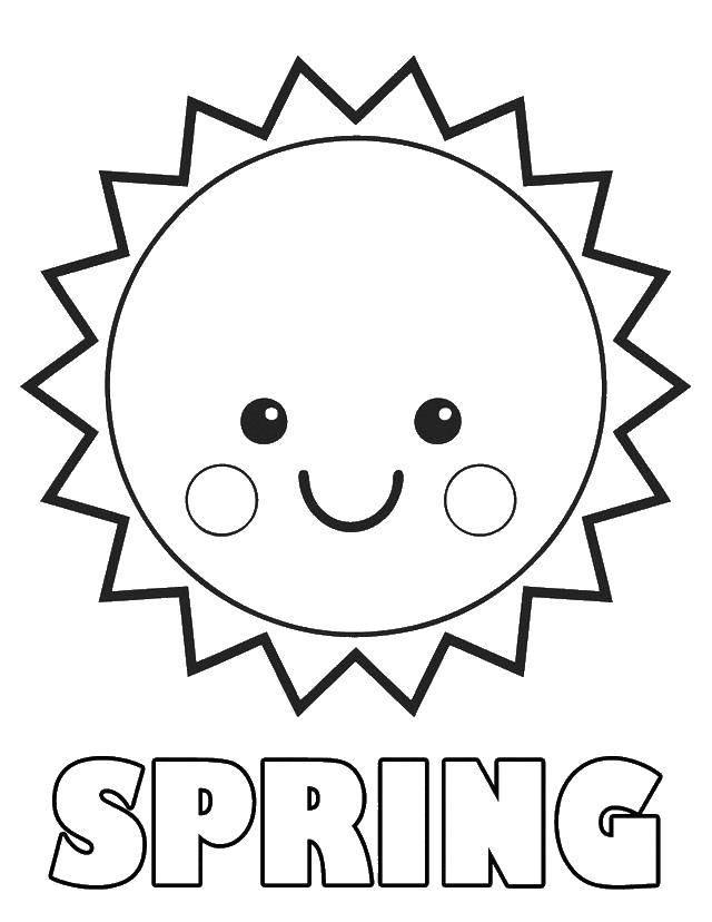 Раскраска Весна!. Скачать Весна, цветы, тепло.  Распечатать ,Весна,