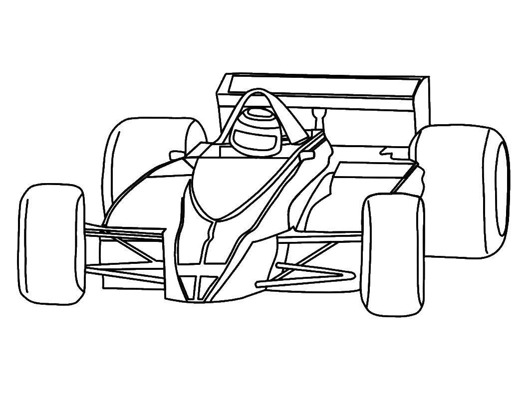 Раскраска Быстрая гоночная машина Скачать Машина, гоночная.  Распечатать ,Машины,