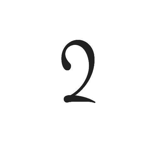 Раскраска Черная двойка. Скачать цифра, два.  Распечатать ,Цифры,