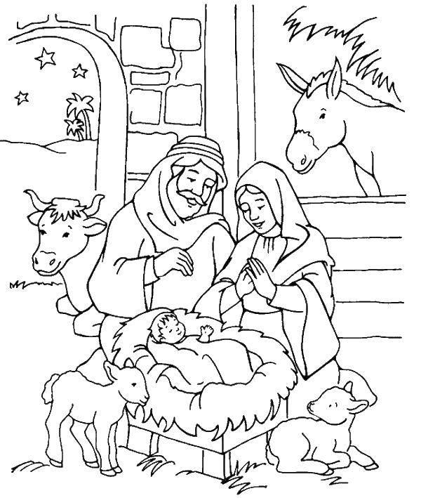 Раскраска День рождества Скачать Рождество, Ангел.  Распечатать ,Рождество,