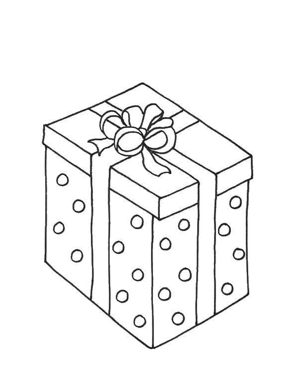 Название: Раскраска Подарочек. Категория: подарки. Теги: подарки, подарок.