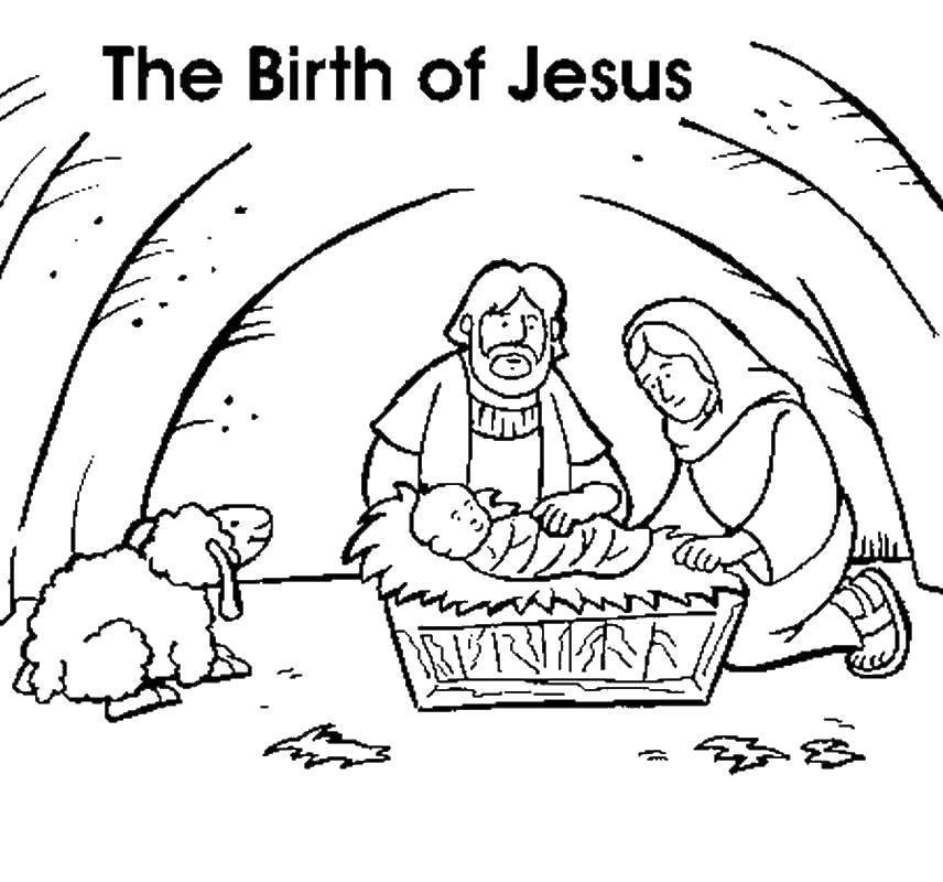 Раскраска Рождение иисуса Скачать Рождество, Ангел.  Распечатать ,Рождество,