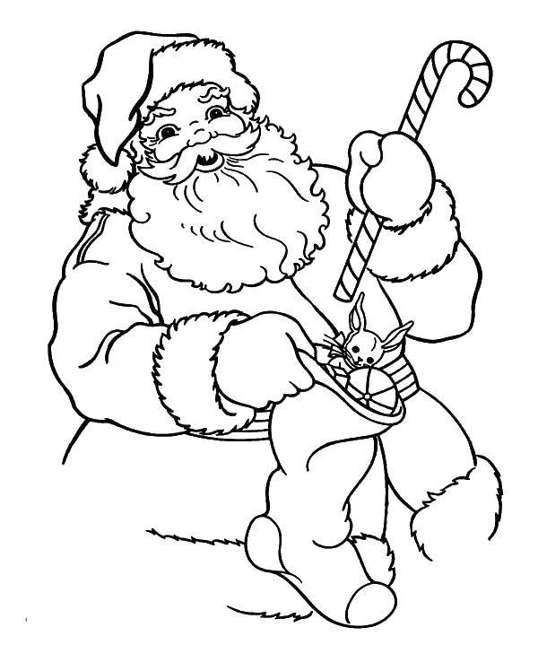 Раскраска Санта Скачать Санта, рождество.  Распечатать ,Рождество,