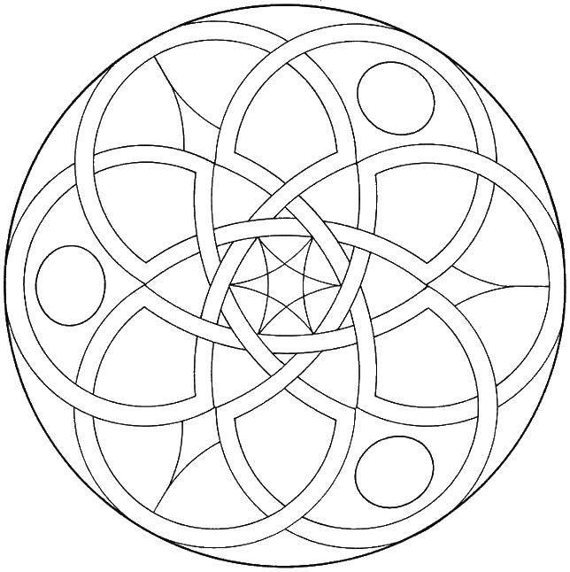 Раскраска Шар с узорами. Скачать узоры, круги, шар.  Распечатать ,узоры,
