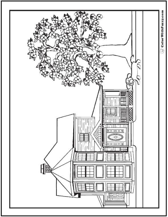 Раскраска дома Скачать ,Октонавты, мультфильм,.  Распечатать