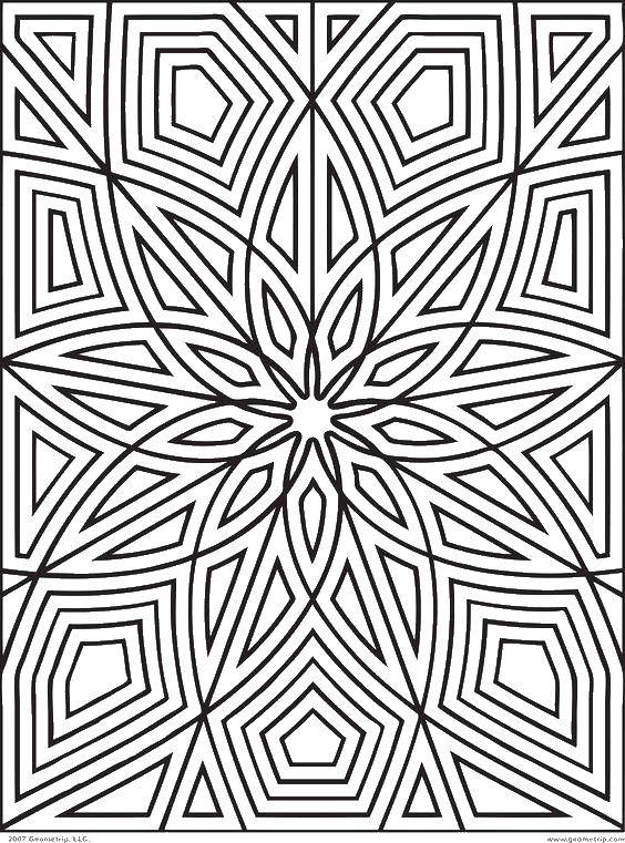 Раскраска Узорчики. Скачать узорчики, цветочек, линии, полоски.  Распечатать ,Узоры с цветами,