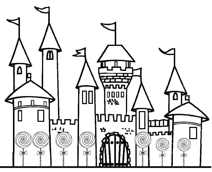 Раскраска замки Скачать мультфильмы, черепашки ниндзя.  Распечатать ,черепашки ниндзя,