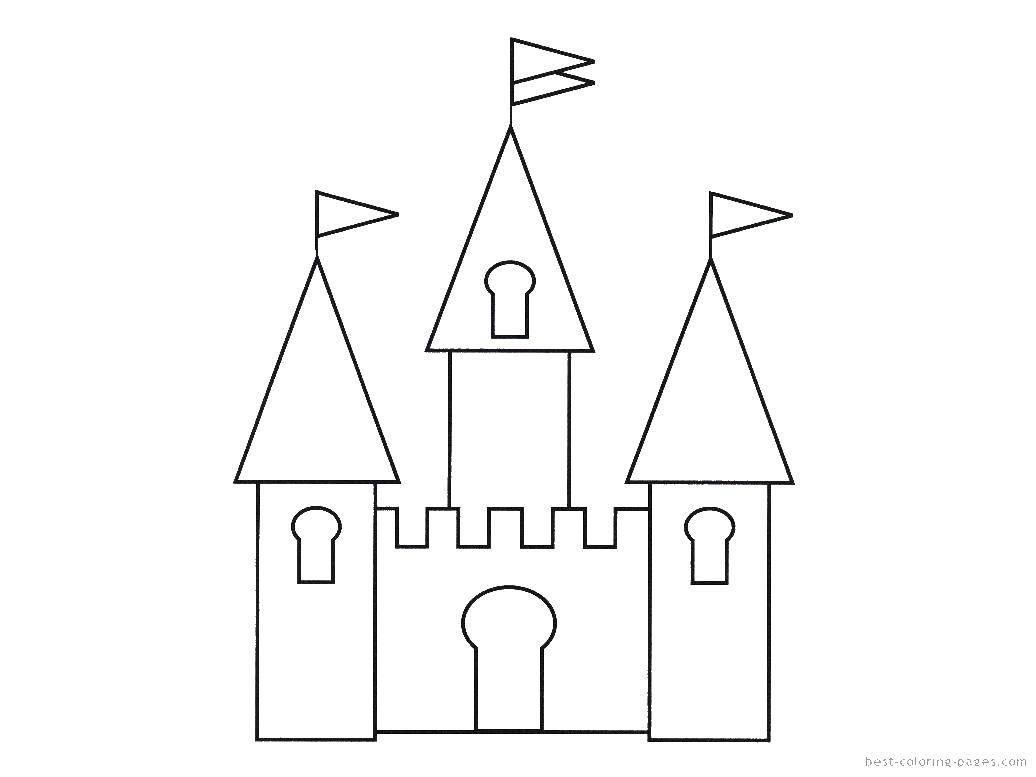 раскраски раскраска замок и три башни замки скачать