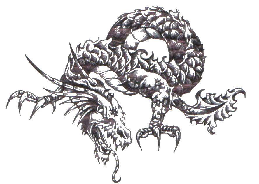 Название: Раскраска Крылатый змей. Категория: Драконы. Теги: змея, крылья, язык.