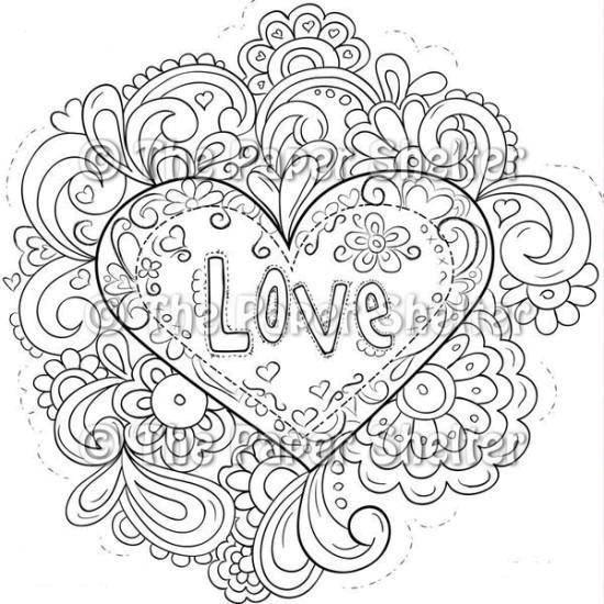 Раскраска Любовь Скачать узоры, цветочки, любовь.  Распечатать ,узоры,