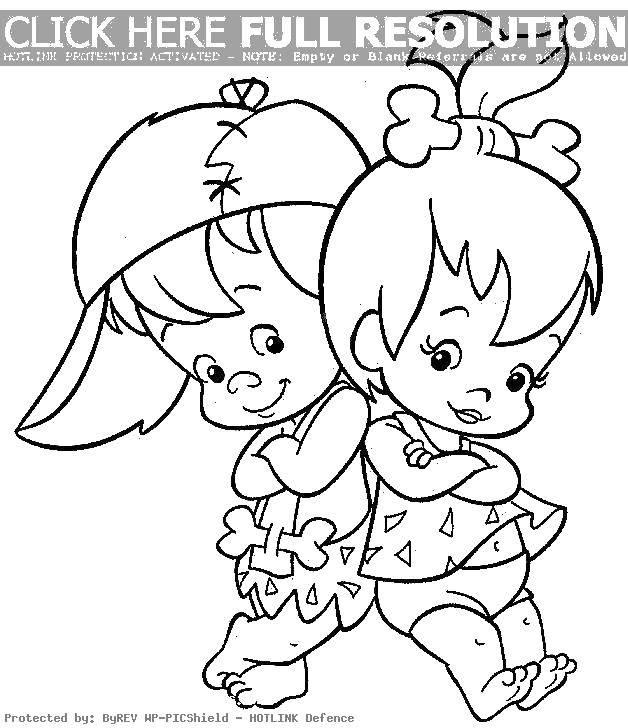 Раскраска Мальчик и девочка с косточками Скачать ,мальчик, девочка, кость,.  Распечатать