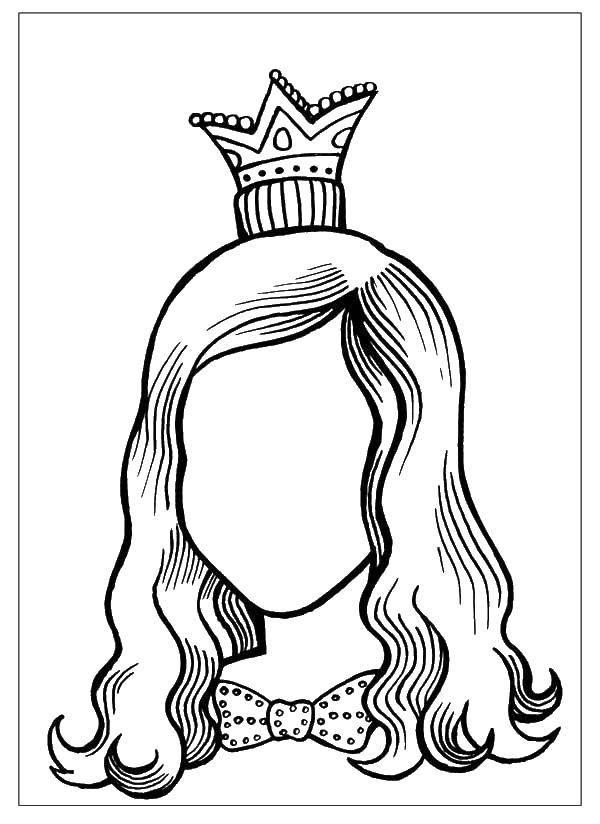 Раскраска Маленькая коронка. Скачать Лицо.  Распечатать ,лицо,