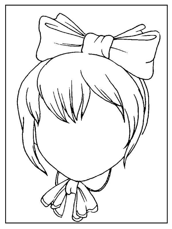 Раскраска Нарисуй лицо девчонке. Скачать Лицо.  Распечатать ,лицо,