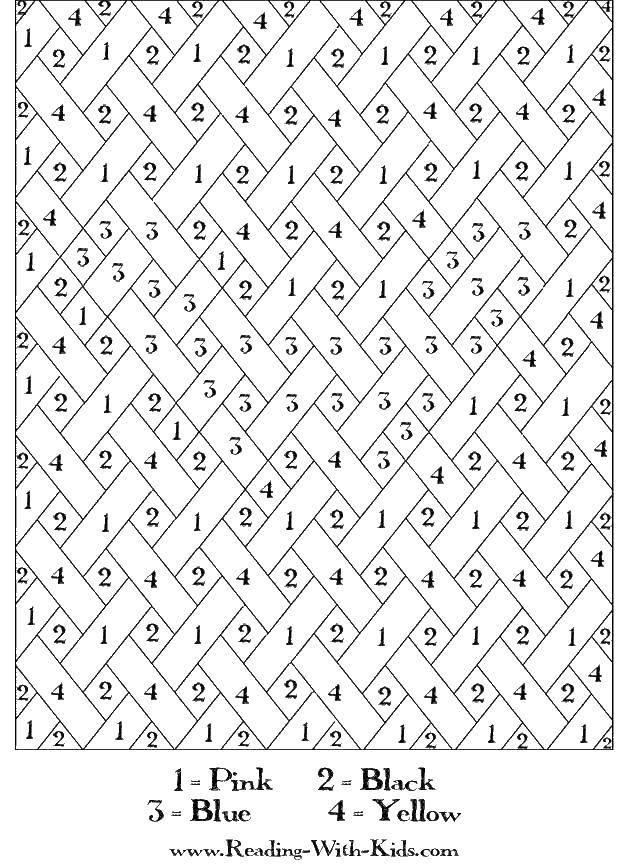 Раскраска Раскрась полоски по номерам Скачать по номерам, полоски.  Распечатать ,По номерам,