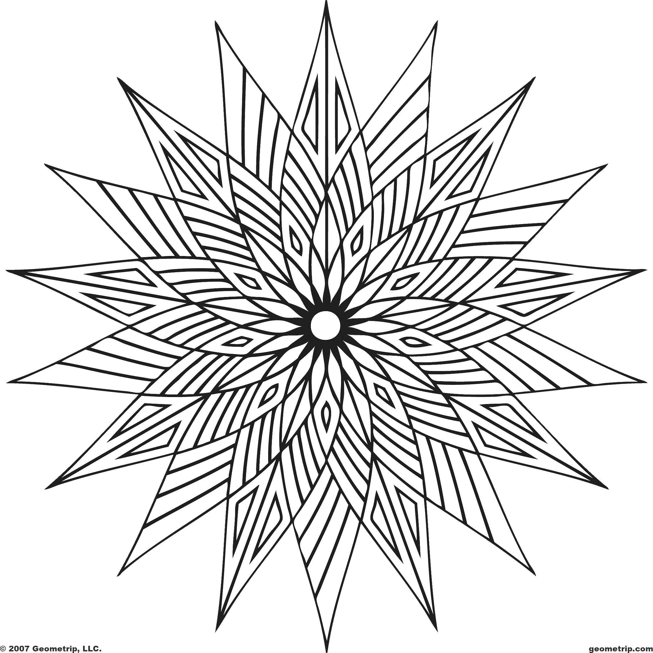 Раскраска Узор цветок Скачать узор, цветы, цветок.  Распечатать ,Узоры,