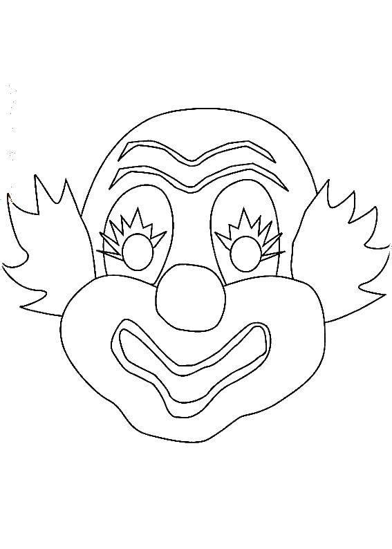 Раскраска Веселый клоун Скачать Клоун, цирк, радость, веселье.  Распечатать ,Клоуны,