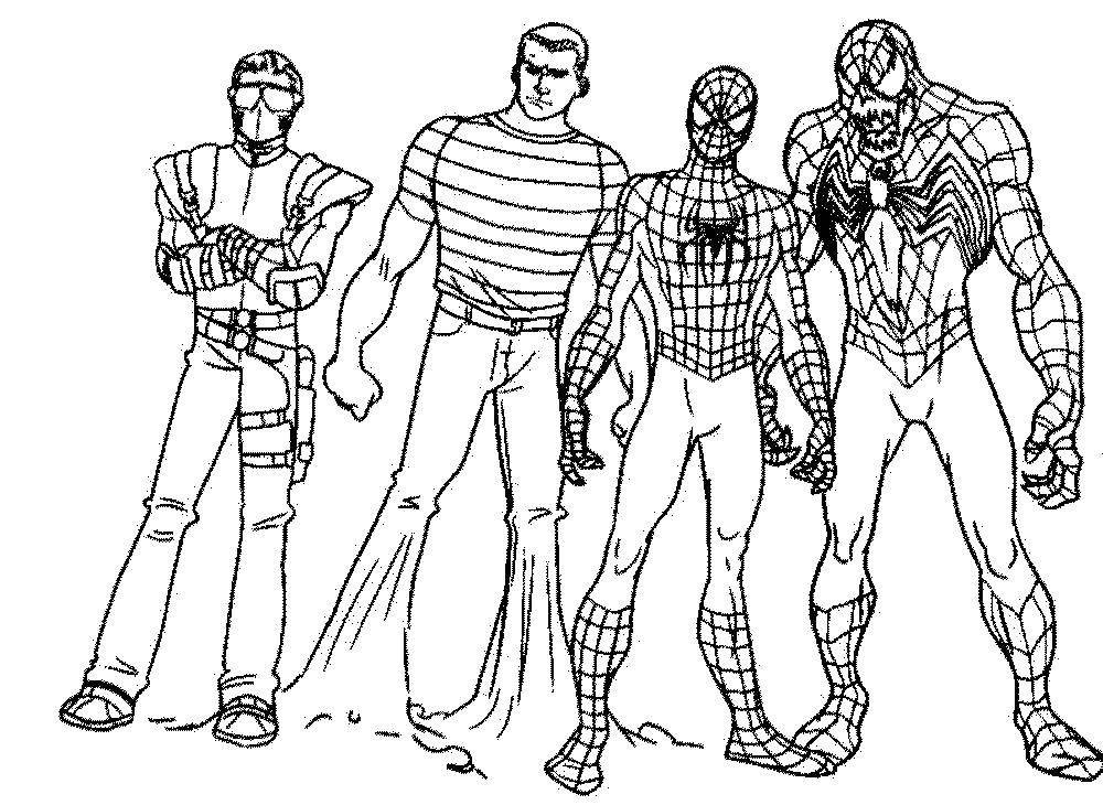 Раскраски мальчиков, Раскраска Человек паук Для мальчиков.