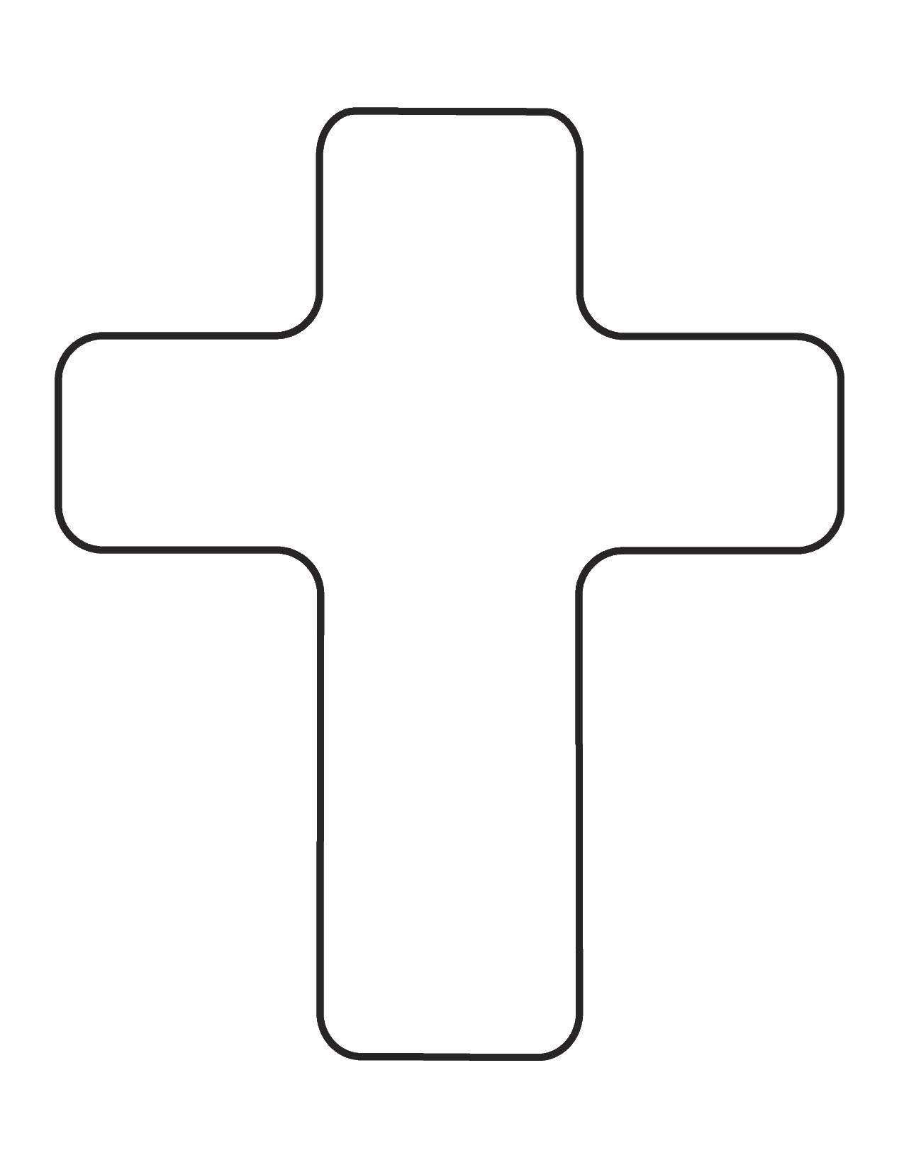 Раскраска раскраски крест Скачать девочка.  Распечатать ,раскраски для девочек,