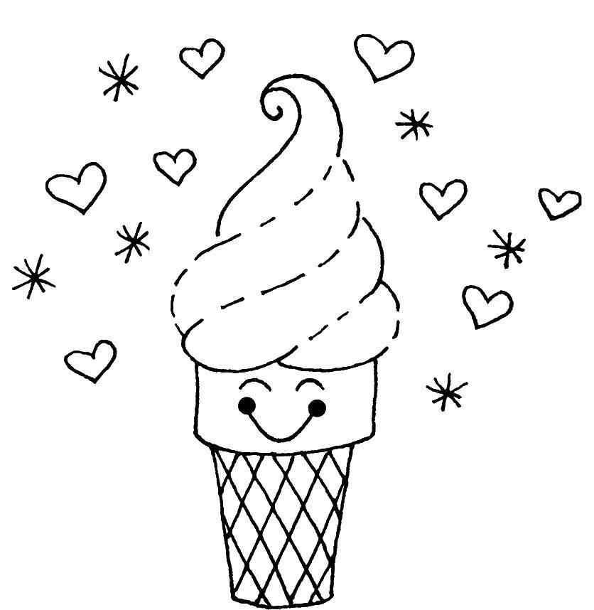 раскраски мороженого Poisk