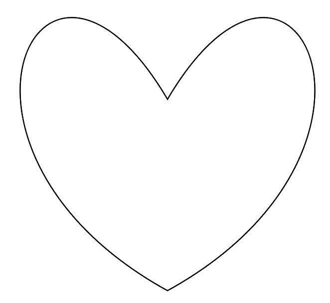 Раскраска Сердце. Скачать сердце, сердечко, любовь.  Распечатать ,Сердечки,