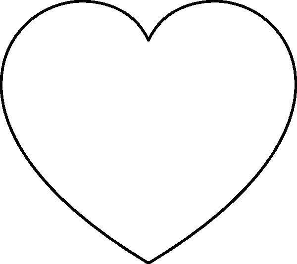 Раскраска Шаблон сердца. Скачать контур, сердце.  Распечатать ,Сердечки,