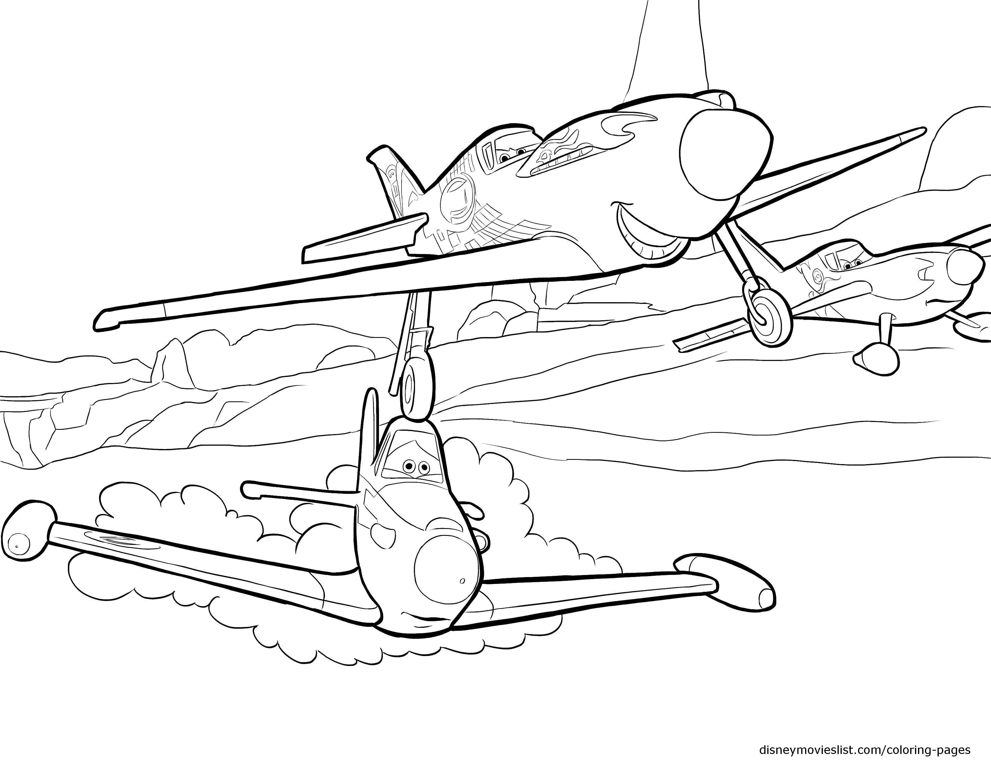 Название: Раскраска Три самолета с лицом. Категория: Самолеты. Теги: самолет, облака, глаза.