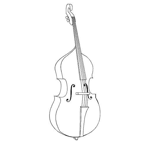 Online coloring pages Coloring page Cello for the musician Music ...