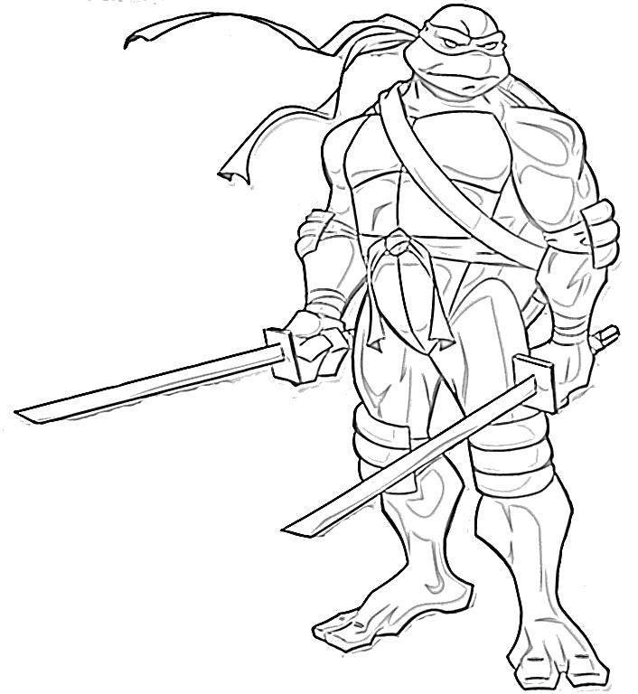 Раскраска Леонардо смелый воин. Скачать Комиксы, Черепашки Ниндзя.  Распечатать ,черепашки ниндзя,