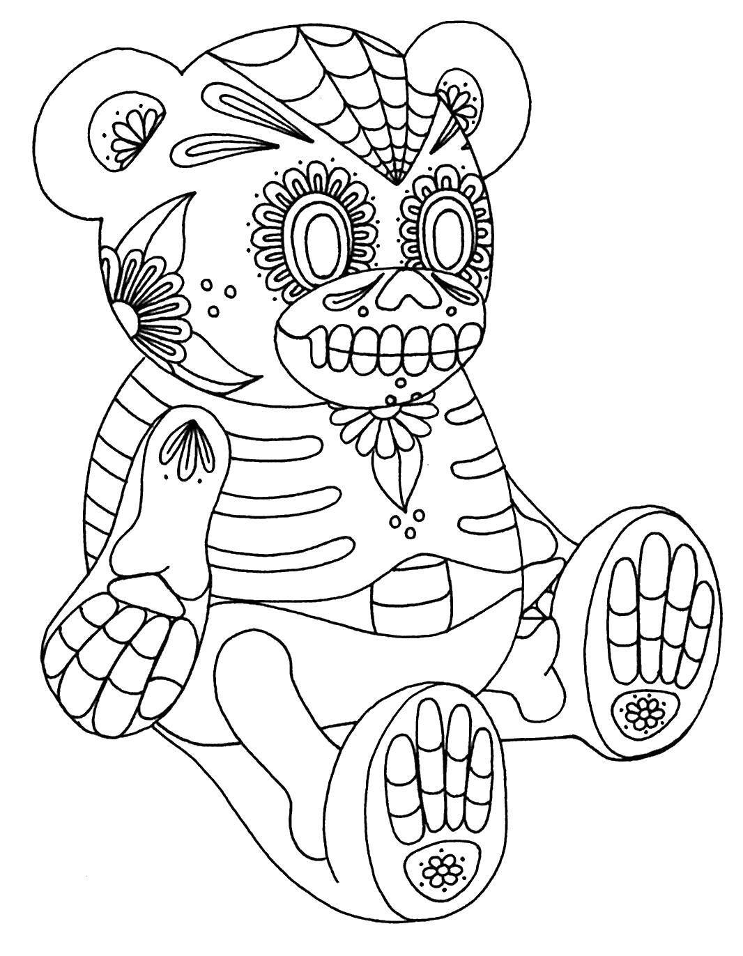 Раскраска череп Скачать Животные, жираф.  Распечатать ,Животные,