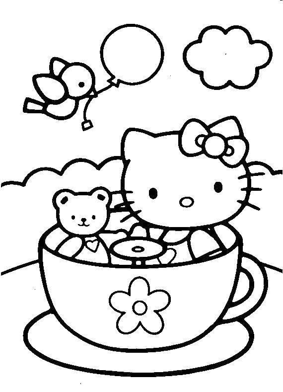 раскраски карусели раскраска китти на карусели коты и котята