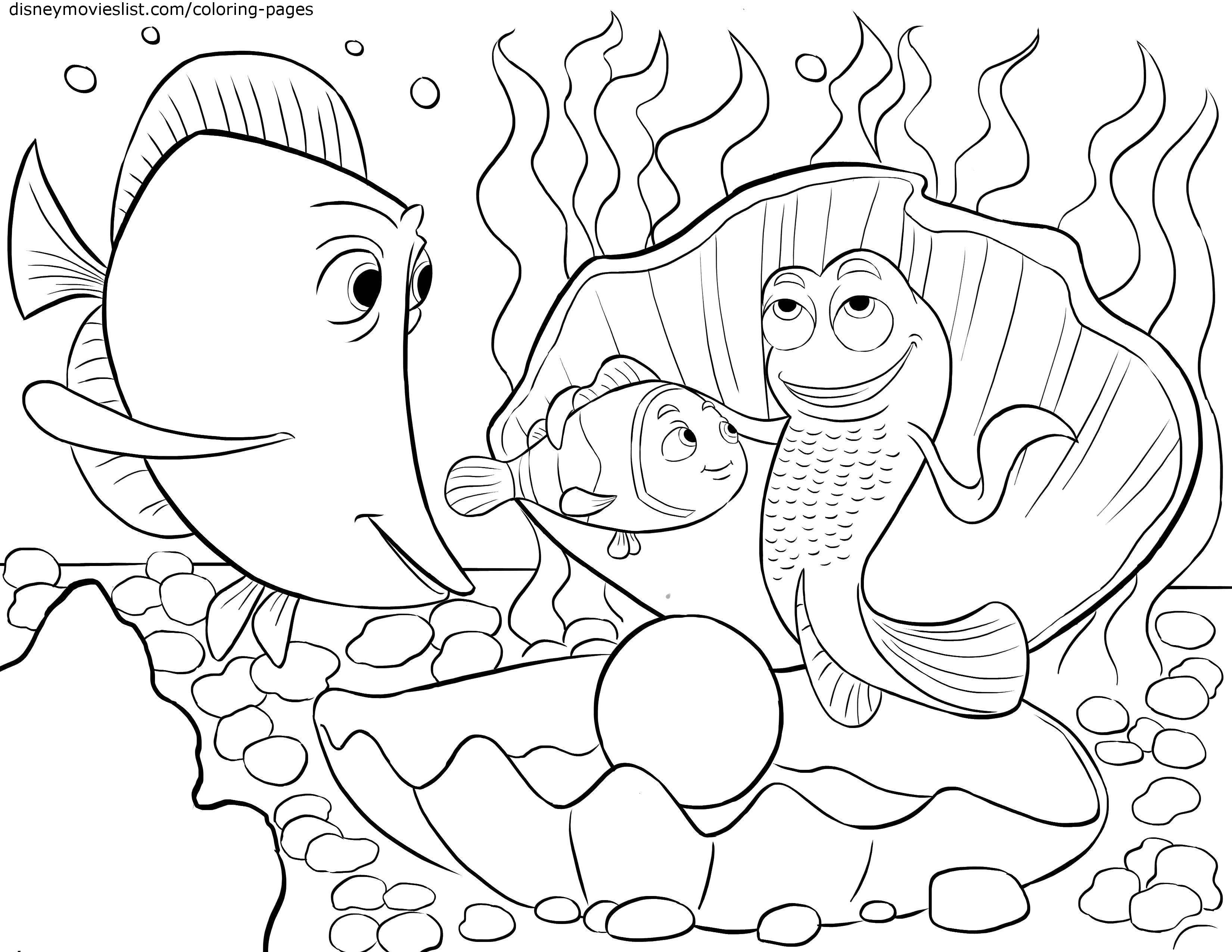 Раскраска морские обитатели Скачать ,Подводный мир, рыба,.  Распечатать