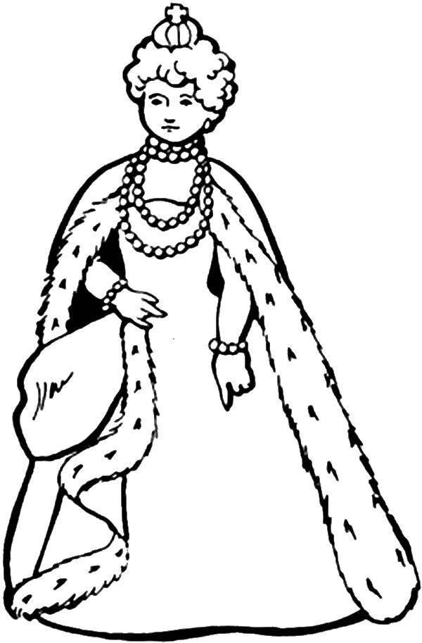 Раскраска Молодая елизаветта. Скачать Король, королева.  Распечатать ,Королева,
