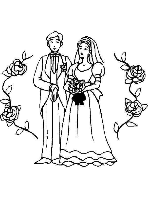 Раскраска Свадьба Скачать ,узорчики, узоры, цветочки,.  Распечатать