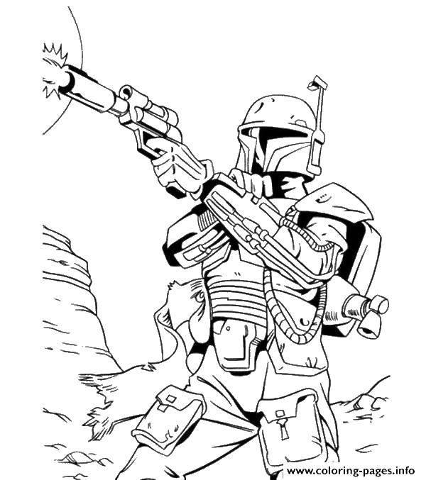 Раскраска Звездный бластер Скачать Звездные Войны.  Распечатать ,космические корабли,
