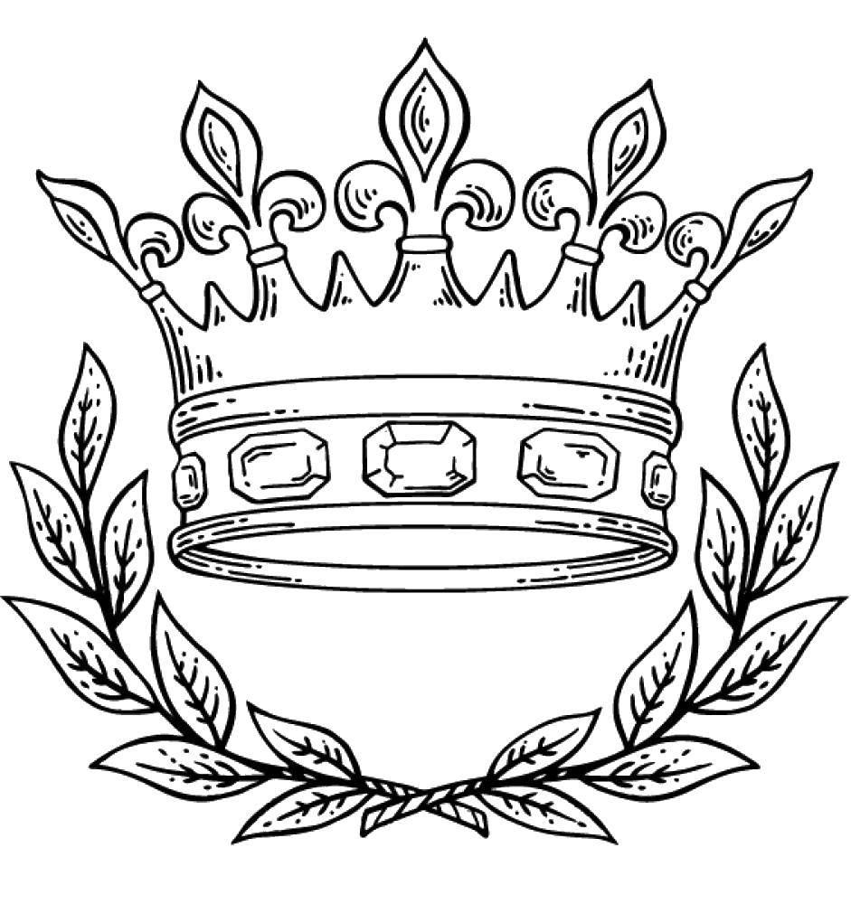 Раскраска Королева Скачать ,Корона,.  Распечатать