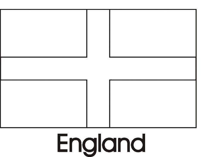 Раскраска Английский флаг Скачать флаг, Англия.  Распечатать ,раскраски,