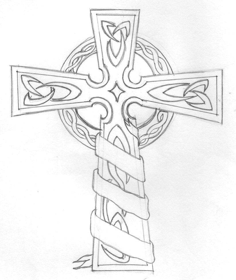 Раскраска Большой крест. Скачать крес.  Распечатать ,Крест,