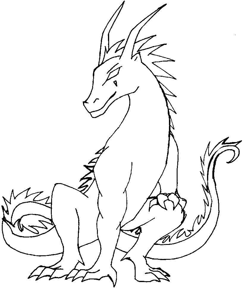 Раскраска Дракончик. Скачать драконы, дракончики, хвост.  Распечатать ,Драконы,